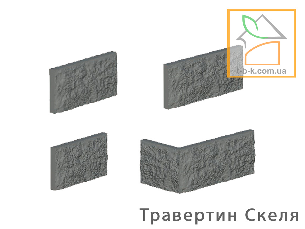 Облицовочный камень Травертин Скала Антик - Фото 1