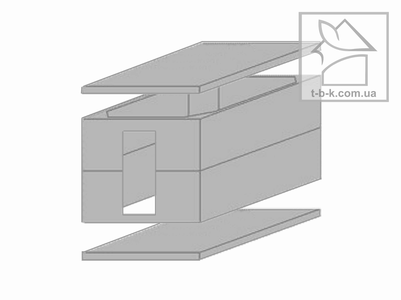Железобетонный Погреб (к-кт 4 элемента) 3,8×3,0 вход с боку